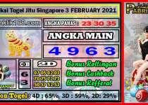 Prediksi Togel Jitu Singapore Rabu 03 February 2021