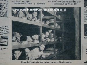 Original Buchenwald barrack photograph