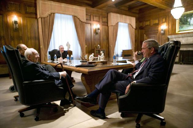 Bush Jr. meeting with Mormon church officials
