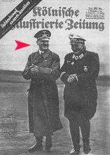 Original Hitler standing among holocaust victims