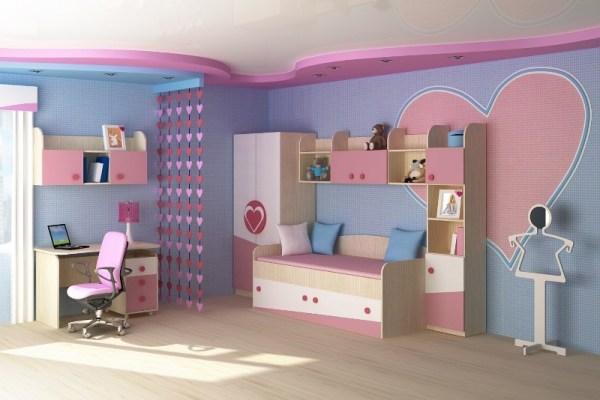 Дизайн детской комнаты для девочки в розовых тонах - Фото ...