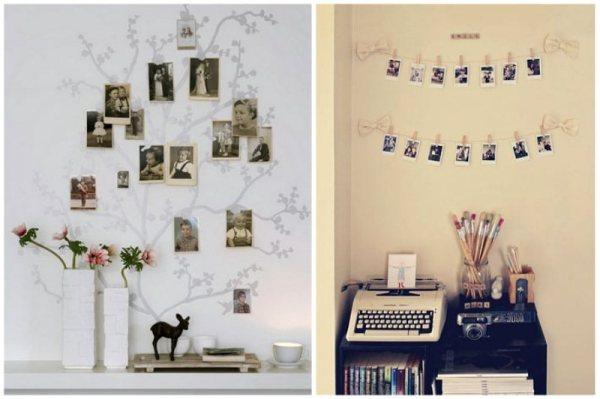 Как Красиво Развесить Фото На Стене