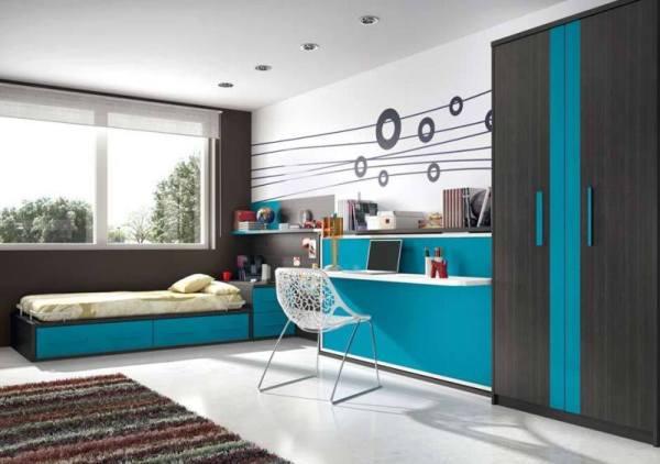 Бирюзовая детская комната - Фото Дизайн интерьера