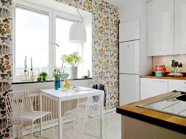 Обои для маленькой кухни: дизайн, идеи, сочетания - Фото ...