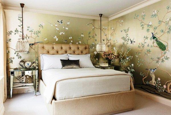 Обои для спальни: выбор, комбинирование, фото - Фото ...