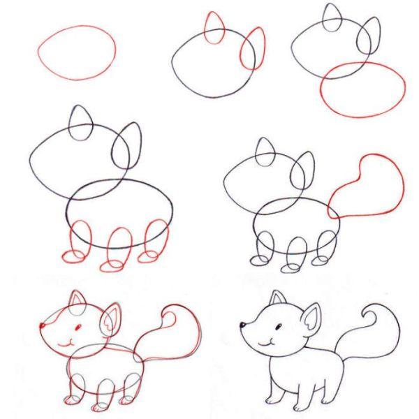12 лёгких рисунков карандашом для срисовки поэтапно с ...