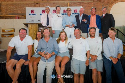 Onawa's 2019 12mR World Championship team captured 2nd place in the Vintage division. Newport, RI, USA.