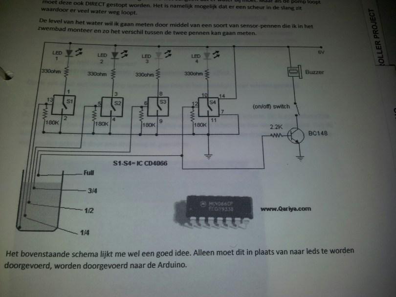 Waterlevel detectie door middel van de Arduino