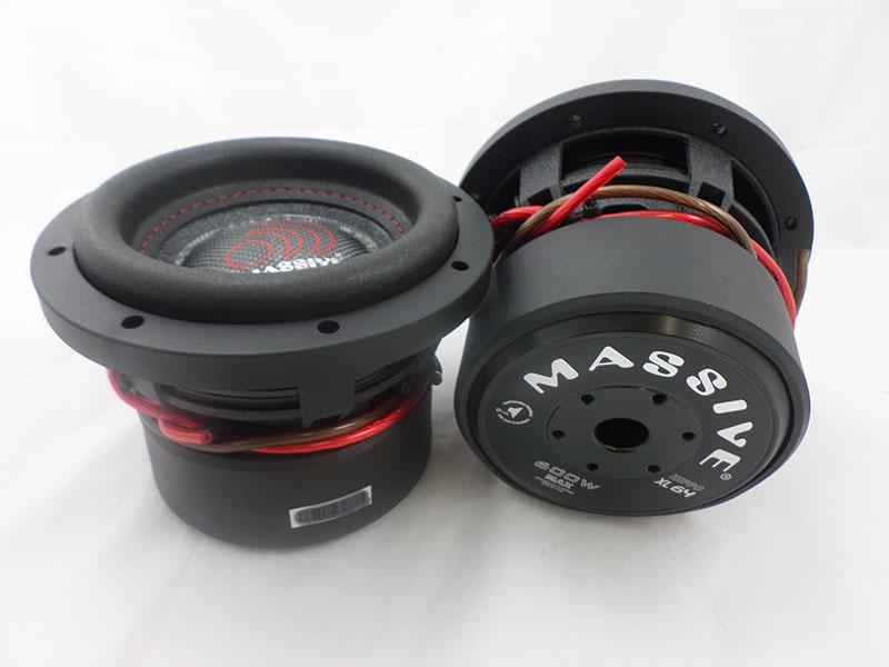 "Massive Audio HIPPO XL64 XL Series 600 Watt 6/"" Dual 4 Ohm Car Audio Subwoofer"