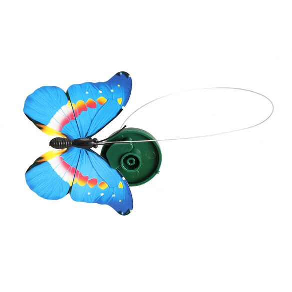 Solar Powered Dancing Flying Butterfly Garden Decoration Color At Random