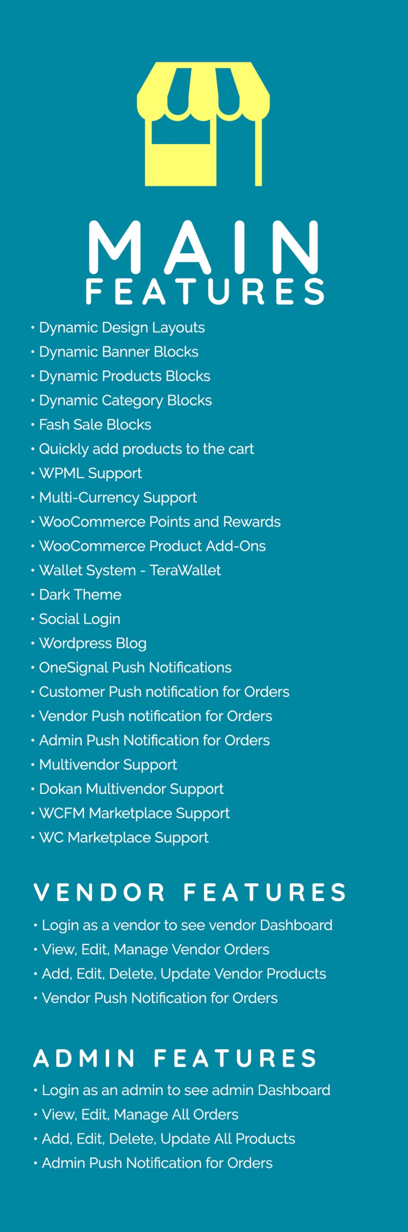 Quick Order ionic 5 mobile app for woocommerce with multivendor features - 1