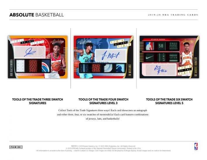 2019-20 Panini Absolute Basketball Sell Sheet 01