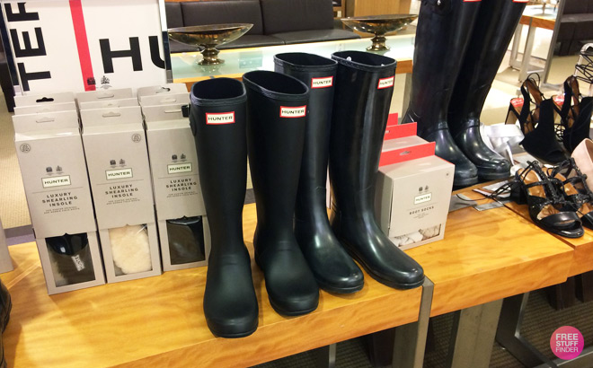 hunter packable rain boots only 74 at