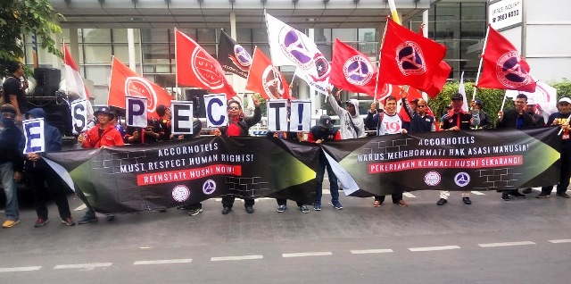 Reinstate Husni Mobilization continues for union rights at Accors Pullman