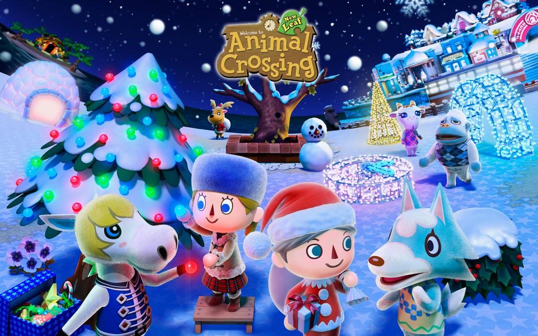 Animal Crossing winter wallpaper