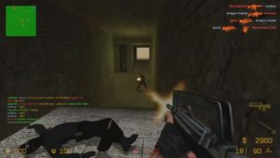 A screenshot of the Gun Game mod in 'Counter-Strike: Source""