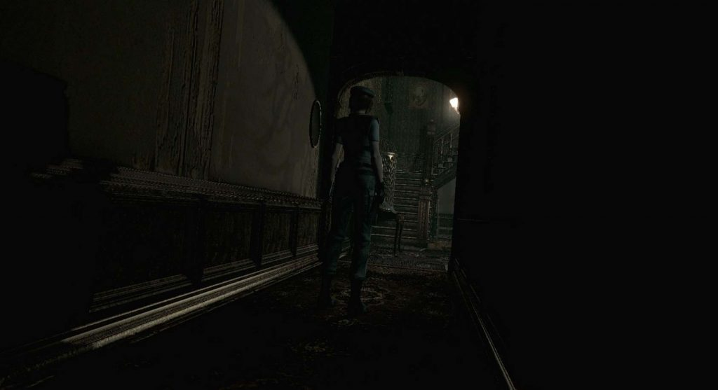Resident Evil HD Remaster also used a similar fixed camera mechanic