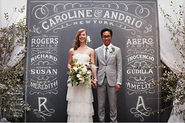 37 gorgeous ideas for ceremony backdrops personalized chalkboard ceremony backdrop ideas weddingfor1000 solutioingenieria Image collections