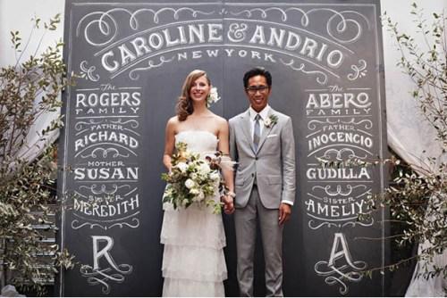 personalized chalkboard ceremony backdrop ideas weddingfor1000.com