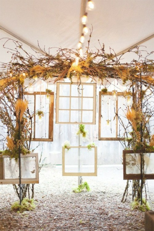 pretty window panes ceremony backdrop weddingfor1000.com