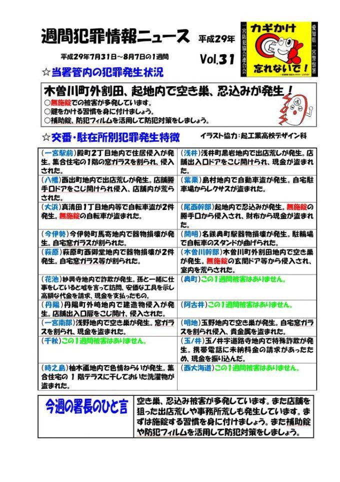 週間犯罪情報ニュース No31