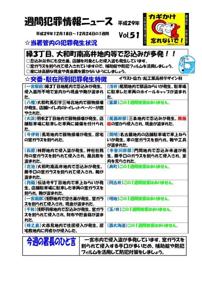 週間犯罪情報ニュース Vol.51