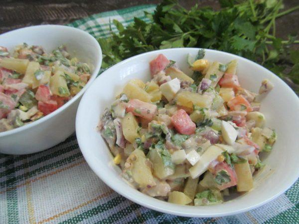 Салат из свиного языка   Кулинарные рецепты с фото пошагово