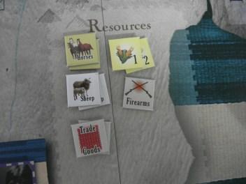 資源:馬匹、玉米、羊、軍火、交易品