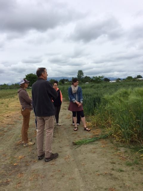 Dr. Stephen Jones of WSU's Bread Lab explains localized wheat and barley cultivation to NWIC's Food Sovereignty class