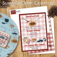 summer camp campfire zazzle header