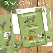 summer camp hiking zazzle header