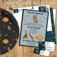 summer camp nighttime