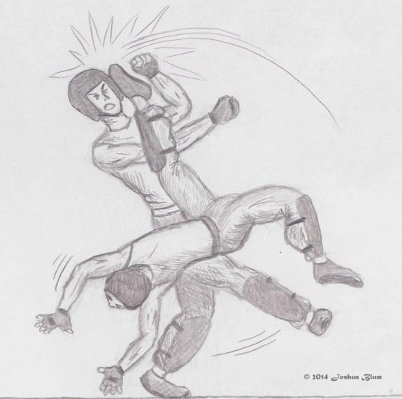 Logan kicking AronWM