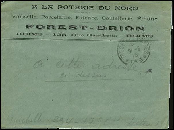 Sa mère tenait un magasin « à la poterie du Nord » 138 rue Gambetta à Reims.