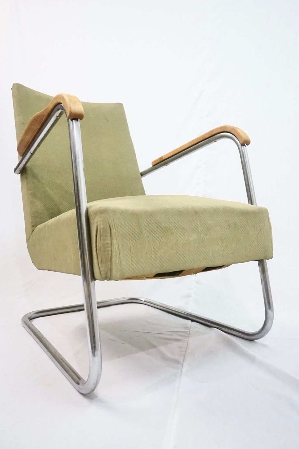 Rare steel tube easychair attributed Frits Schlegel for Fritz Hansen : Price upon request