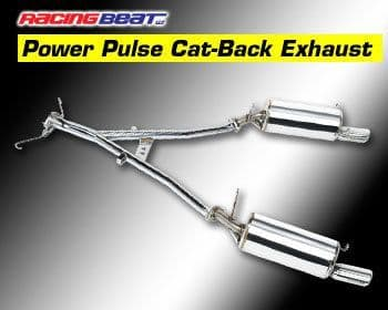 mazda rx7 racing beat power pulse street legal cat back exhaust system 86 91 turbo ii non turbo