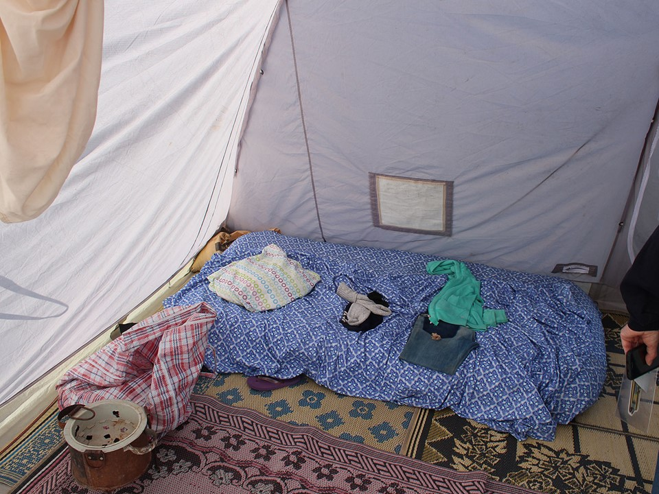 New home in refugee camp