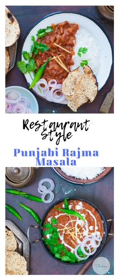 The best Restuarant Style Punjabi Rajma Masala -Easy recipe
