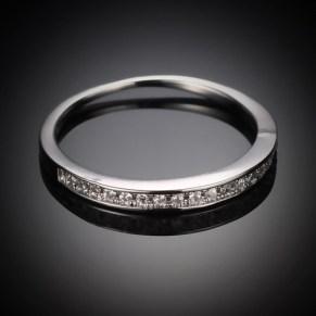 One Line Diamond Fashion Ring -1