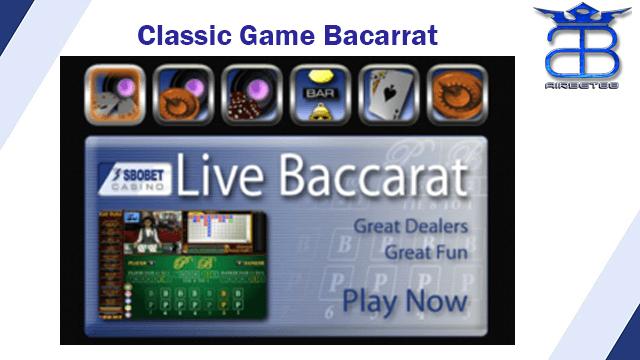 Classic Game SBOBET Baccarat