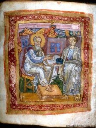 Apostle_John_and_Marcion_of_Sinope,_from_JPM_LIbrary_MS_748,_11th_c