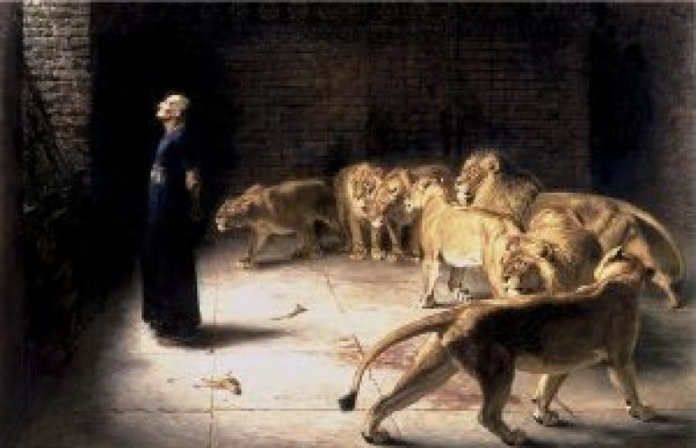 Briton_Riviere_-_Daniel's_Answer_to_the_King_(Manchester_Art_Gallery)