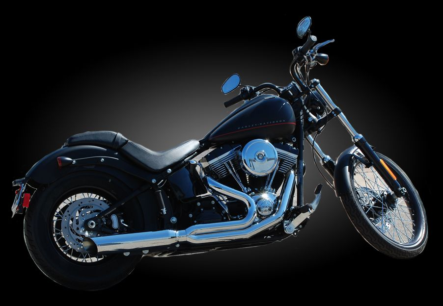 d d exhaust 579z 32f chrome fat cat 2 into 1 exhaust for 1984 2017 softail models