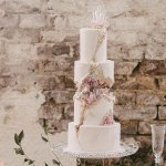 Kintsugi Crystal Geode Wedding Cake