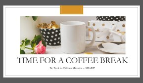 coffee break black white gold polkadots Elegant Style My Persusasive Presentations