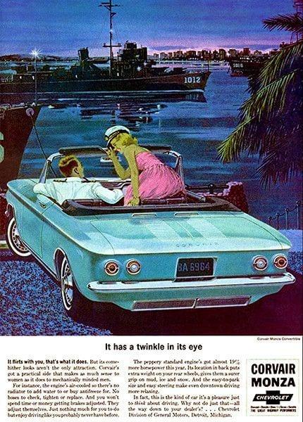 Corvair convertible ad