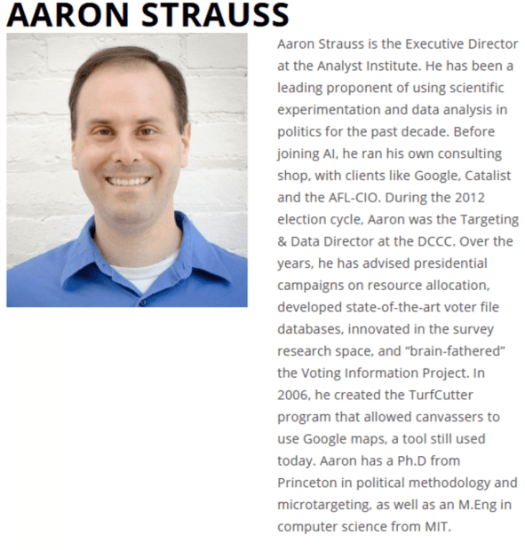 Screenshot of the bio of the director of the Center for Civic Information, illustrating piece on the Georgia runoff elections and potential voter intimidation (Screenshot of image obtained by C. Murray) spectator.org