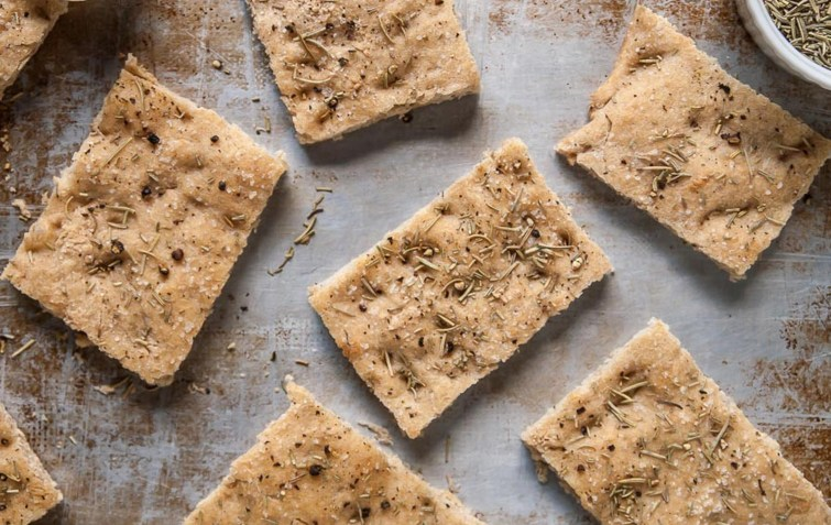Rosemary Black Pepper Focaccia [Vegan]