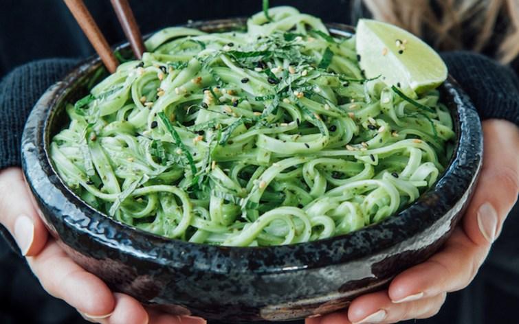 Creamy Thai Pesto Linguine