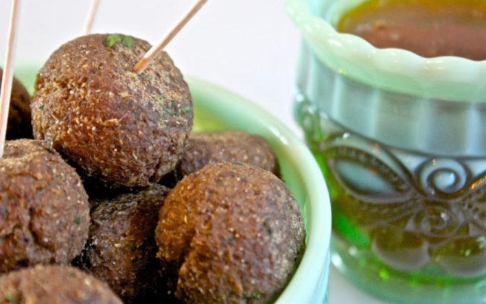 Vegan Swedish Meatballs and Apricot Dipping Sauce